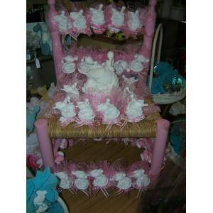Chaise garni de 35 cigogne bébé