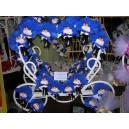 Couple garçon garni en bleu roi 44 pièces