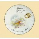 Assiettes porcelaine félicitation pour votre mariage