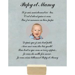 Plaque Papy et Mamy