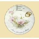 Assiette porcelaine félicitation