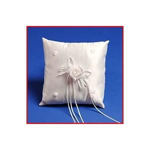 Coussin carré avec des perles